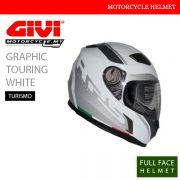 GIVI Graphic Touring White Full Face Turismo Helmet Malaysia