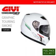 GIVI Solid White Smoke Full Face Turismo Helmet Malaysia