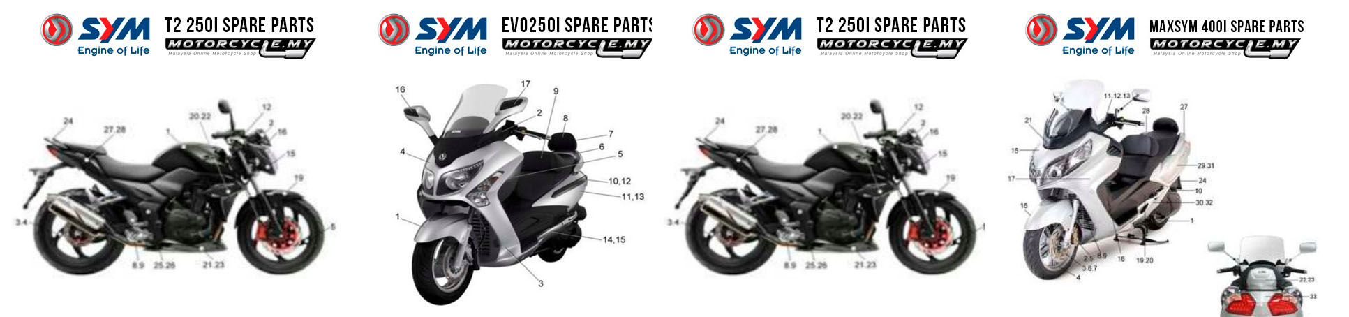 SYM Spare Parts Malaysia