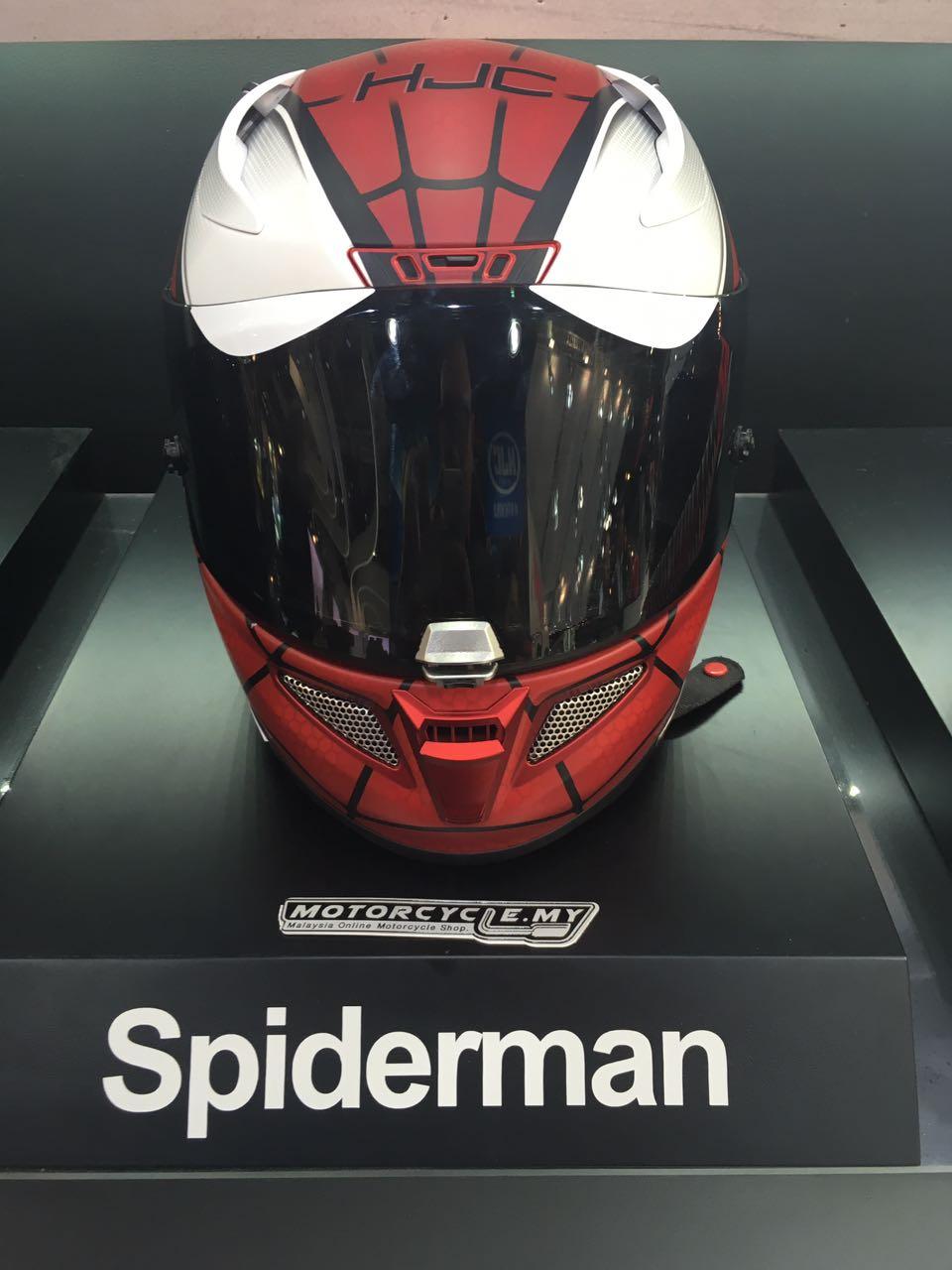 Marvel Limited Edition HJC Helmets @ EICMA - Spiderman, Ironman, Avengers, Punisher, Venom Helmets
