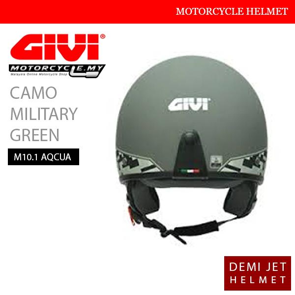 GIVI Camo Military Green Demi Helmet Malaysia