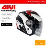GIVI Graphic Racing White Jet M30.2 Presto Helmet Malaysia