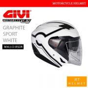 GIVI Graphic Sport White Jet M30.3 D-Visor Helmet Malaysia