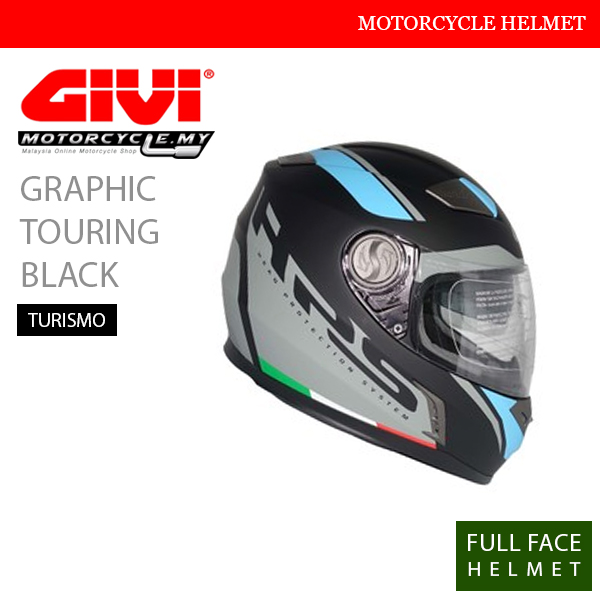GIVI Graphic Touring Black Full Face Turismo Helmet Malaysia