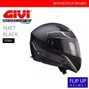GIVI Matt Black Flip Up Terra Helmet MALAYSIA