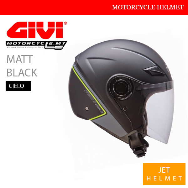 GIVI Matt Black Jet Cielo Helmet Malaysia
