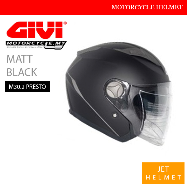 GIVI Matt Black Jet M30.2 Presto Helmet Malaysia