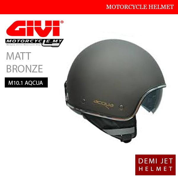 GIVI Matt Bronze Demi Jet M10.1 AQCUA Helmet Malaysia