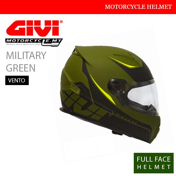 GIVI Military Green Full Face Vento Helmet Malaysia