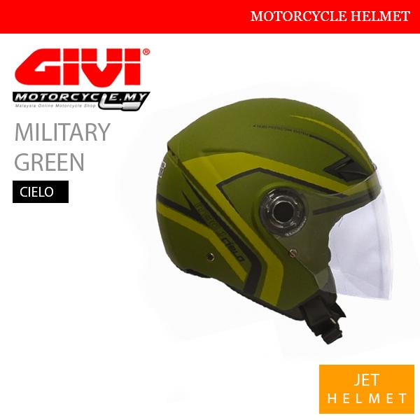 GIVI Military Green Jet Cielo Helmet Malaysia