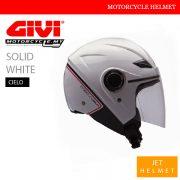 GIVI Solid White Jet Cielo Helmet