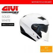 GIVI Solid White Jet M30.3 D-Visor Helmet Malaysia