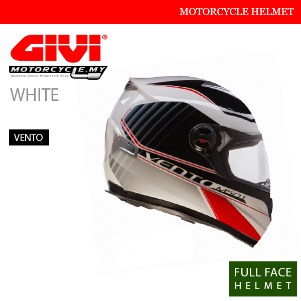GIVI White Full Face Vento Helmet Malaysia