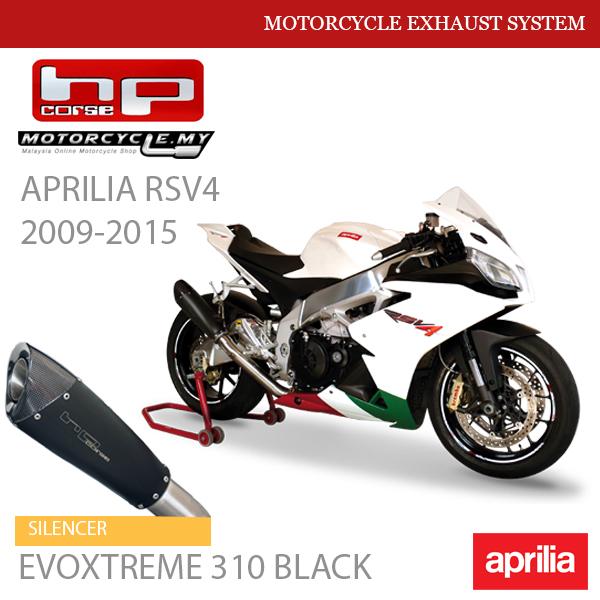 HP CORSE APRILIA RSV4 2009-2015 Exhaust Silencer EVOXTREME 310 Black Malaysia