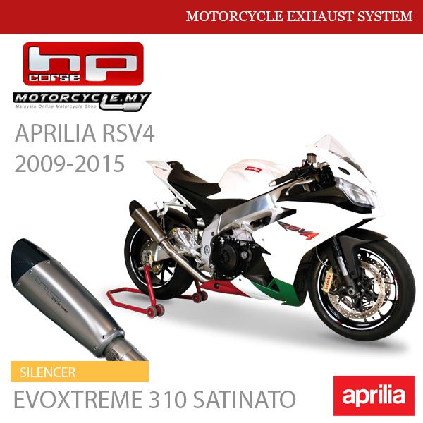 HP CORSE APRILIA RSV4 2009-2015 Exhaust Silencer EVOXTREME 310 SATINATO MALAYSIA