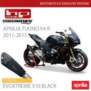 HP CORSE APRILIA TUONO V4 R 2011-2015 Exhaust Silencer EVOXTREME 310 Black Malaysia