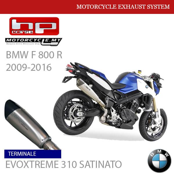 HP CORSE BMW F 800 R 2009-2016 Exhaust Terminale EVOXTREME 310 SATINATO MALAYSIA