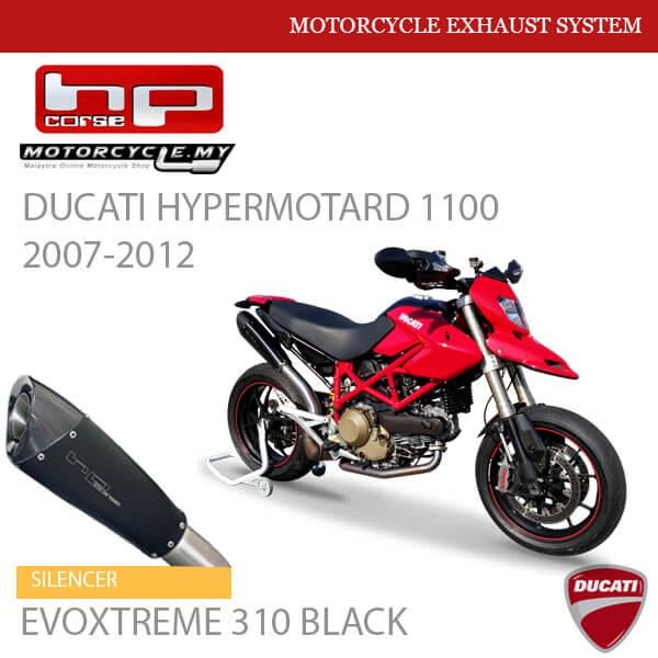 HP CORSE DUCATI Hypermotard 1100 2007-2012 Silencer EVOXTREME 310 BLACK MALAYSIA
