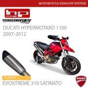 HP CORSE DUCATI Hypermotard 1100 2007-2012 Silencer EVOXTREME 310 SATINATO Malaysia