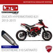 HP CORSE DUCATI Hypermotard 821 2013-2015 Terminale EVOXTREME 310 SATINATO MALAYSIA