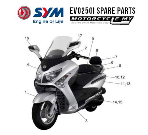 SYM Malaysia EVO250i Spare Parts