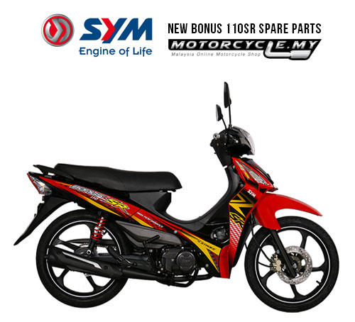 Sym Malaysia NEW BONUS 110SR Spare Parts