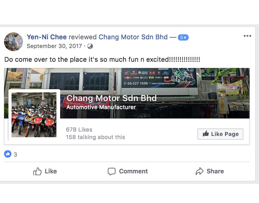 Chang Motor FB 5 Stars Review