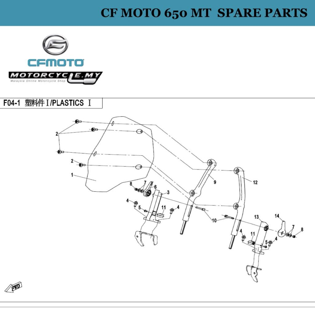 CF Moto 650 MT Spare Parts F00 Engine Fittings