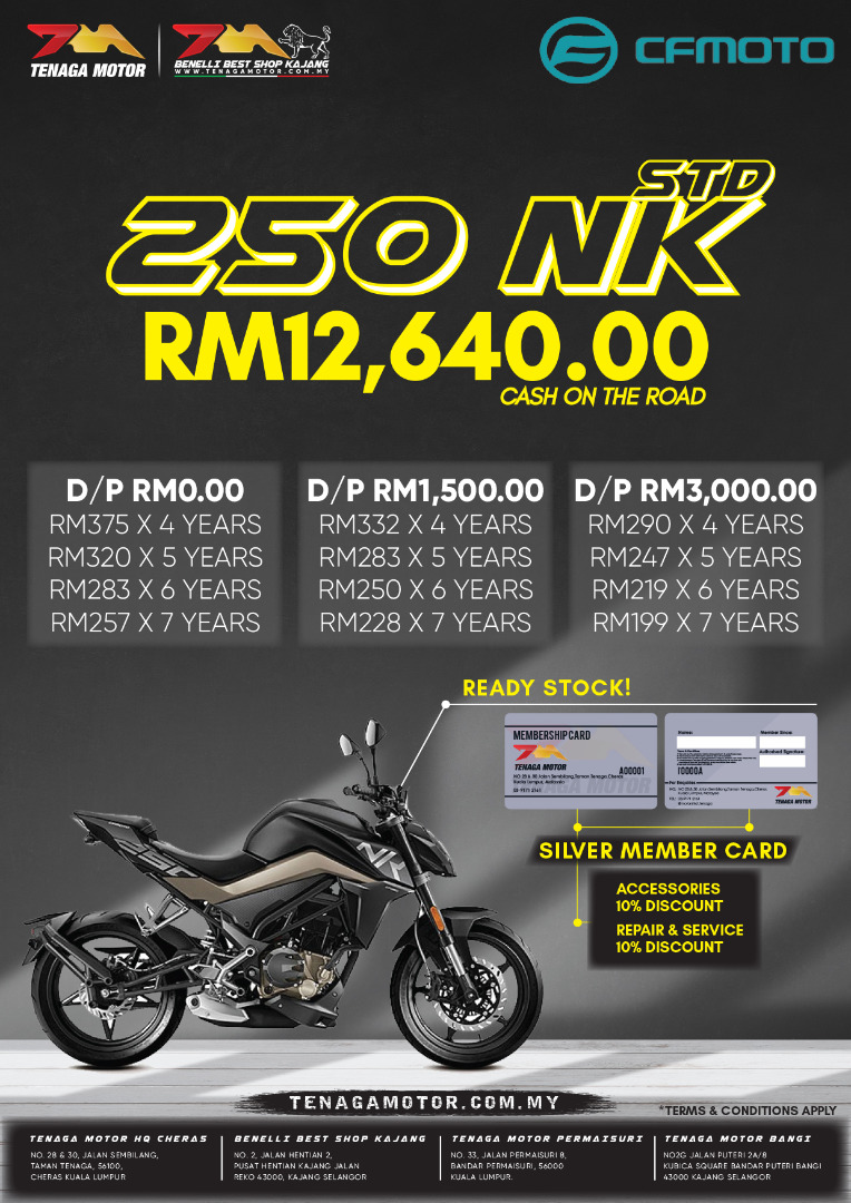 Tenaga Motor 250 NK