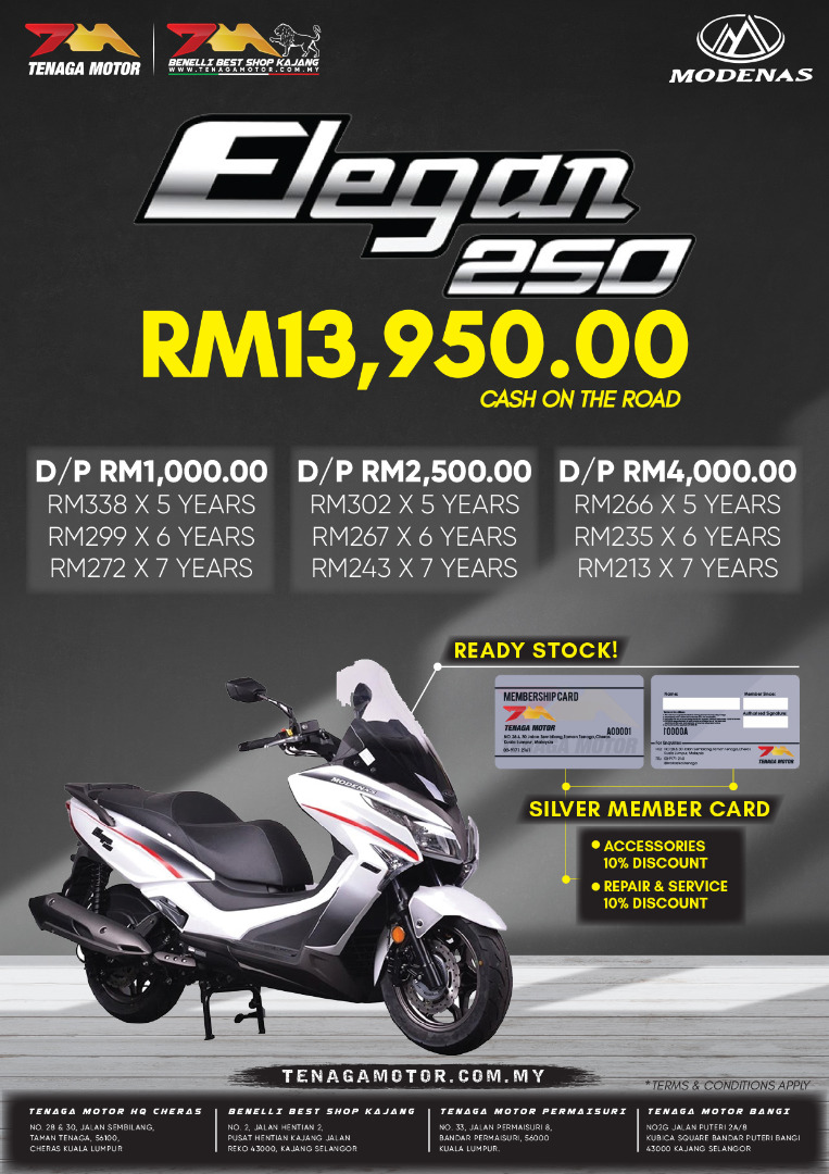 Tenaga Motor Elegan 250